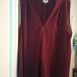Avenue merlot sleeveless blouse